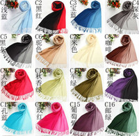 Wholesale Freeshipping pc Women s Gradient Color cashmere Pashmina Cotton Scarf Shawl Colors promotion for