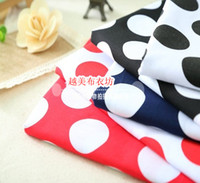 Wholesale Calico cotton fabric cotton poplin active material printed dots Shuiyu little dress shirt overalls