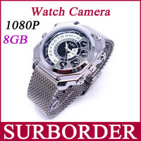 Wholesale Full HD P Waterproof Wrist Watch Camcorder Mini Spy Camera Hidden GB Voice Control Sound activated