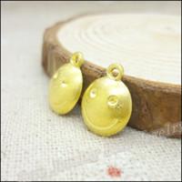 Wholesale 230 Charms Smile Pendant Gold color Zinc Alloy Fit Bracelet Necklace DIY Metal Jewelry Findings