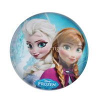Spacers Jewelry Findings Yes 25mm 30pcs INSPIRED Frozen Queen Elsa & Princess Anna 3D high glass bottle cap - cabochon, embellishment hair bow center
