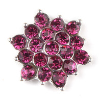 Wholesale 17mm Mixed flowers Rhinestone flatback Embellishment Button Brooch accessories clear crystal bouquet Diy