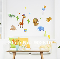 Wholesale listed in stock Transparent PVC Animal Forest Kids Nursey Art wall Stickers x70cm sheet