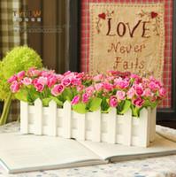 Wholesale Artificial flowers decorative furnishings diamond rose bud cm fence floral suit FL130011