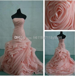 Wholesale Organza Fit and Flare Gown with Bias Flange Skirt Style VW351011