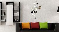 Mechanical Wall Clocks Digital Mirror effect ring wall clock Modern design,3D interior decoration living room wall clocks