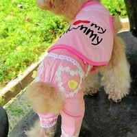 Wholesale Fashion Flower Pet Dog Apparel Suspender Trouser LCCAD156