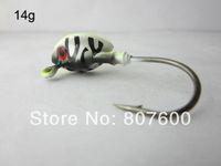 High Carbon Steel Barbed Hooks Lake Fishing Live Bait Jig Lead Fish Jig Head Hook 14g Tiger Head 20 Pcs Lot