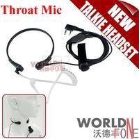 5km-10km radio earpiece - FS Throat Microphone Earpiece Walkie Talkie Headset Headphone For Two Way Radio BaoFeng UV R RE UV B5 UV B6 TK