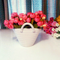 Wholesale Creative porcelain vase artificial flowers Home decoration flower Wedding Gifts FL130026