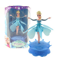 Wholesale Christmas Gift Frozen Flying Elsa Kids Doll Toys Frozen Doll Frozen Toys For Girls Dancing Flying Elsa With Base Fly Elsa Toys