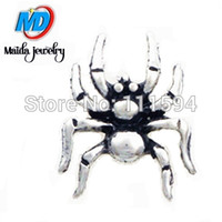Charms animal charms - new the silver spider animals floating charms fit glass lockets MFC429