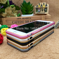 Wholesale thin inch Metal Aluminum Frame Bumper For Apple iphone Plus Case Shockproof Protector Phone Cases Covers Accessories