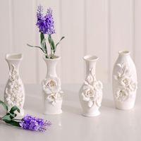 Wholesale Furnishings fun three dimensional flowers ceramic small vase decoration home decoration