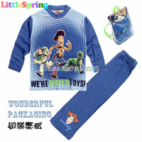 Wholesale Original Kids Sets Great Pacakge Toy story kids pajamas children sleepwear Pyjamas cartoon night suit clothes set GLZ T0313