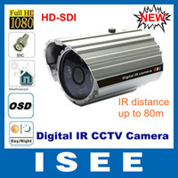 Wholesale MP P Full HD SDI Outdoor CCTV Weatherproof Digital IR Night vision Camera with OSD CCTV WDR D cam