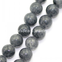 Wholesale Synthetic Agate Gemstone Loose Beads Round Dark Grey mm Dia cm long Strand approx B22945