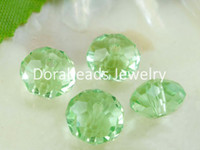 Wholesale 70 Green Crystal Glass Faceted Rondelle Beads x6mm B03849 yiwu