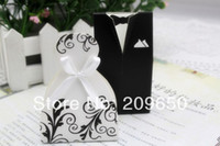 Wedding Other Holiday Supplies Yes Wedding Candy Box Sweet Box Black Decorative Pattern Wedding Favor Boxes Gift Paper Bags Candy Boxes 200pcs lot Free Shipping