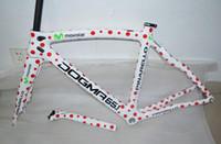 Wholesale 2014 movistar bicycle frame carbon red circle white color carbon fiber road carbon fiber frame racing bicycle framecarbon bike frames