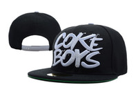 black mens hats - styles Coke Boys Snapback Hats in black red blue camo white top quality mens women designer snapbacks caps Freeshipping