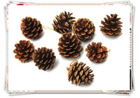 Wholesale Christmas Tree Decoration Wooden Pine Cone Ornament