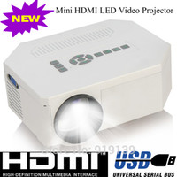 Wholesale Portable LED Mini Projector With HDMI USB VGA Proyector SD Cheap Projetor For Game Home Electronics Work With Wii PS2 Xbox