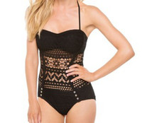 One Pieces Spandex Hollow Out new original single conjoined hollow out sexy black naked one piece women swimsuit no205