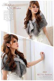 Wholesale New Bridal Shawl faux fur Wedding Wrap Jacket Formal Dress Shawl colors