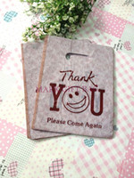Plastic plastic carrier bags - Coffee Cute Face Plastic Bags Carrier Bags Packing Shopping Bags x20cm