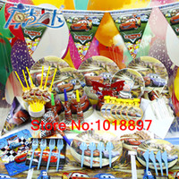 Wholesale Luxury Kids Birthday Party Decoration Set Cars PLEX Theme Party Supplies Birthday Pack cupcake stand CK