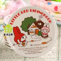 Wholesale 15 colors optional Placemats placemat pot heat mat coasters cm melamine Little Red Riding Hood insulation pad