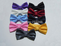 Wholesale Men s Tuxedo Classic Bowtie Solid Color Neckwear Adjustable Bow Tie T011 Tied Color For Choose Freeshipping