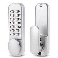 digital door lock - Keyless Mechanical Digital Digital Push Button Door Lock Zinc Alloy Home