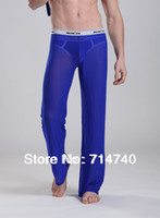 Wholesale Sexy gauze transparent mens home male pajama bottoms trousers Thermal Mesh Sheer Lounge Pants