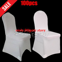 Wholesale Universal White Polyester Spandex Wedding Chair Covers for Weddings Banquet Folding Hotel Decoration Decor Hot Sale