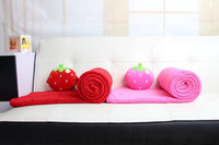 Polar Fleece Fabric Home Adults Strawberry blankets, home supplies air blanket shawls, bedspreads sheets automobile plant