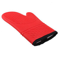 Wholesale Oven Mitt And Potholder Heat Resistant Up To F Cooking Mitt Red Color Cooking Glove Protect From Hot Steam YHK0008