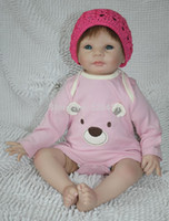 "Unisex Birth-12 months Vinyl New design 22"" newborn baby doll soft silicone vinyl reborn baby doll lifelike Handmade doll"