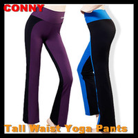 Wholesale Spring Autumn CONNY Brand Women s Tall Waist Yoga Fitness Long Pants Dance Pants Trousers Highlight Height Thinness Not fading