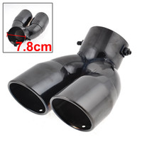 Wholesale Dual Slant Cut Stainless Steel Exhaust Muffler Tip Black for Car