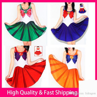 Wholesale Halloween Sexy Costume Japan Anime Cosplay Dress Bowknot Sexy Sailor Moon Cosplay Costume Women Fantasia Lolita Costumes Girl Cosplay Dress