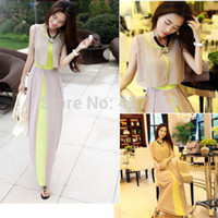 Model Pictures Ankle-Length Chiffon Sexy Women Holiday Summer Boho Long Maxi Evening Party Dress Beach Dresses