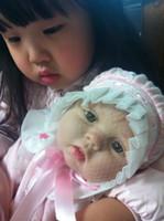 "Unisex Birth-12 months Vinyl 22"" Reborn Baby Dolls Silicone Vinyl Soft newborn baby Toys Hot fashion lifelike handmade doll"