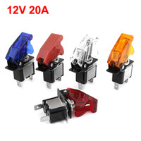 A/C Switch switch - 10 x Racing Car Auto LED Illuminated ON OFF Toggle Switch V A w Safety Cover