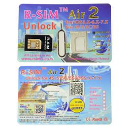 Wholesale 2015 Micro Sim Adapter New Real Micro Sim Adapter Tray R sim Air2 Unlock Card Ios x x R Rsim Air c s Via Fast Shipping