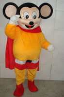 Mascot Costumes mighty mouse - MIGHTY MOUSE SUPERMAN STRONG MAN ADULT MASCOT COSTUME