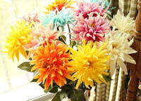 Wholesale latex real touch tulip PU Dahlia flower high cm artificial silk flowers wedding home flowers