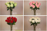 Wholesale high quality artificial silk single head large UK rose flowers high cm wedding bouquet home docoration