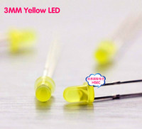 Wholesale mm Yellow LED light emitting diode F3 LED Yellow Colour